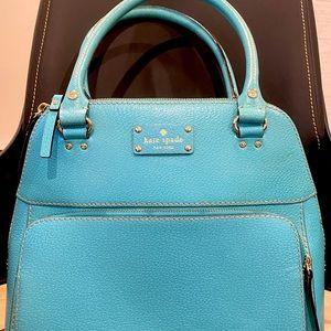 Kate Spade Leather Wellesley Maeda Tote Turquoise